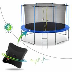 10-16FT Outdoor Trampoline with Intra Enclosure Net, Jumping