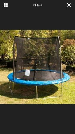 JumpKing 10 Foot Outdoor Trampoline  78sqft & Safety Net Enc
