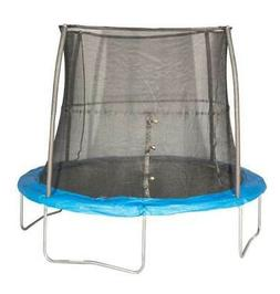 JumpKing 10 Foot Outdoor Trampoline and Safety Net Enclosure