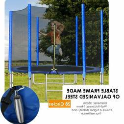 10 FT Large Trampoline Enclosure Net Jumping Mat Spring Pad
