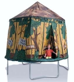 JUMPKING 10' TRAMPOLINE TREE HOUSE CIRCUS TENT/FORT w/ POL