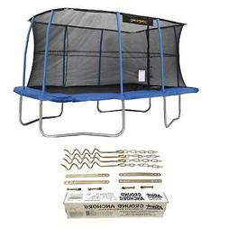 "JumpKing 10 x 14"" Trampoline with Safety Net and XDP Recreat"