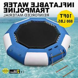 10Ft Inflatable Water Bounce Water Trampoline Platform Jump