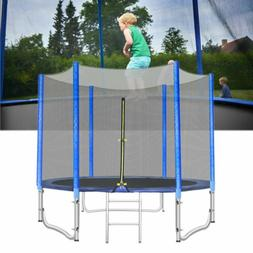 10FT Round Trampoline Enclosure Net Jumping Mat Spring Pad C