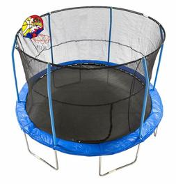 JumpKing 12' Bounce N' Dunk Trampoline  Enclosure Combo with