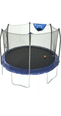 Skywalker Trampolines 12-Foot Jump N' Dunk Trampoline with