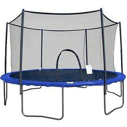 12 foot trampoline with safety enclosure blue
