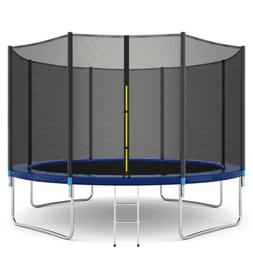 12-FT Kids Trampoline Combo Bounce Jump Safety Enclosure Net