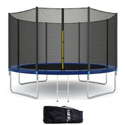 12FT All-weather Trampoline Combo Bounce Jump Safety Enclosu