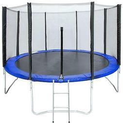 12FT Round Trampoline Combo Safety Enclosure Bounce Jump Net