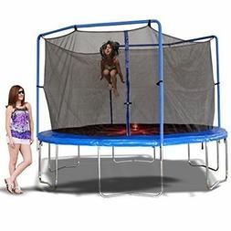 13 feet round trampoline combo w enclosure