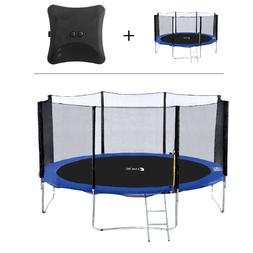 14/15 FT Outdoor Trampoline with Enclosure Net, Ladder, Jump