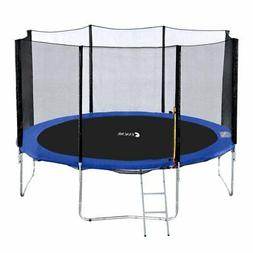 Exacme 14 Foot Round Trampoline with Safety Pad, Enclosure N