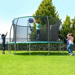 14 STEELFLEX TRAMPOLINE with Enclosure Net and Slama Jama Ba