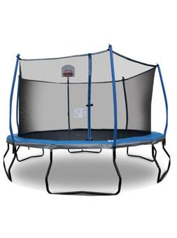 Bounce Pro 14' Trampoline with Safety Enclosure and Basketba