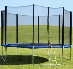 POWERT 14' Trampoline with Safety Enclosure Net & Ladder 14F
