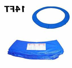 14FT Blue Trampoline Pad Spring Safety Cover Replacement Rou