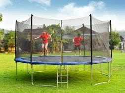 14FT TRAMPOLINE With Safety Net and Ladder for Jump Trainnin