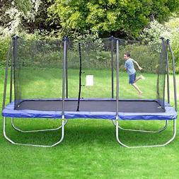 15 Feet Rectangle Trampoline with Enclosure Children Jump Pl