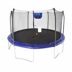 Skywalker Trampolines 15-Foot Jump N' Dunk Trampoline with