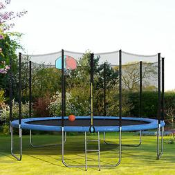 15 foot round trampoline with safety enclosure
