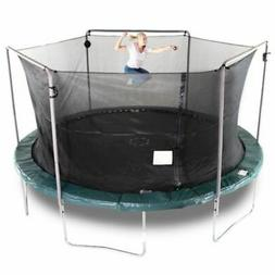 15-Foot Trampoline, With Electron Shooter Game, Green Bounce