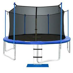 ORCC Upgrade Trampoline with Enclosure Net and Safety Pad La