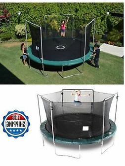 Bounce Pro 15-Ft Trampoline with Safety Enclosure Electron S