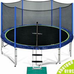 Zupapa 15 FT TUV Approved Trampoline with Enclosure net and