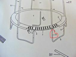 JUMPKING 15' trampoline Leg Extension   REPLACEMENT PART