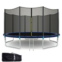 15FT All-weather Trampoline Combo Bounce Jump Safety Enclosu