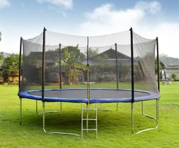 Merax 15FT Round Outdoor Trampoline with Enclosure W/ 96PCS