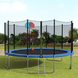 Merax Upgrade 15FT Trampoline with Enclosure Net Pad Ladder