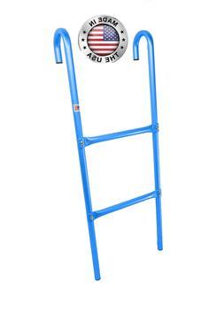 2-Step All Metal Blue Trampoline Ladder Made in USA Trampoli