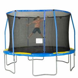 Bounce Pro 12-Foot Outdoor Trampoline Safety Enclosure + Ele