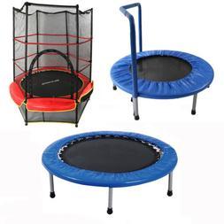 "36""/38""/55"" Round Kids Mini Trampoline Jumping Play Toy Fun"