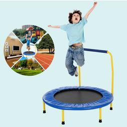 "36"" Foldable Kids Trampoline with Padded Frame Cover Handl"