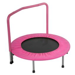 36 inch portable kids trampoline with handrail