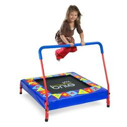 Pure Fun 36-Inch Trampoline for Kids with Handrail, Blue Alp
