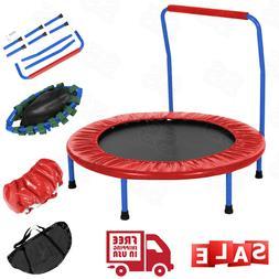 "36"" Mini Trampoline Fitness Exercise Rebounder Jump Bounce w"