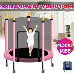 4.6FT Kid Play Trampoline Exercise Jumping Bed Round Safety