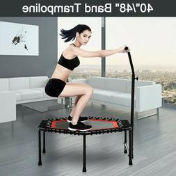 "40""/48"" Mini Rebounder Trampoline Exercise Fitness Gym W/Adj"