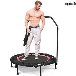 "40"" Foldable Mini Fitness Trampoline 300lb Jump Home Gym Yog"