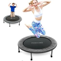 "40"" Foldable Mini Trampoline Fitness Rebounder for Kids Adul"
