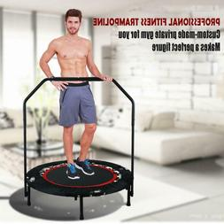 "40"" Folding Rebounder Trampoline Jumping Sports Exercise Fit"