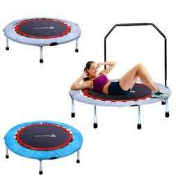 "40"" Handrail Trampoline Fitness Exercise Mini Rebounder Gym"