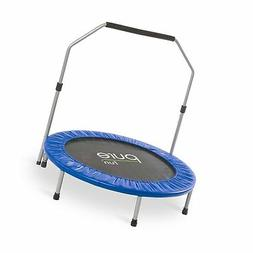 Pure Fun 40-inch Exercise Trampoline with Handrail 3.33 Blue