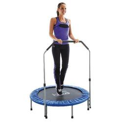Pure Fun 40-Inch Exercise Trampoline, with Handrail, Blue Ad