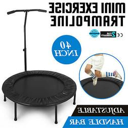 40inch exercise trampoline w adjustable handle fitness