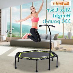 "OneTwoFit 48"" Mini Jump Trampoline Home Gym Yoga Exercise Fi"